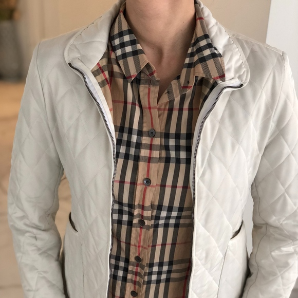 7103747d1d2d Burberry Jackets   Blazers - SALE!!!! Burberry White Burberry Quilted Jacket